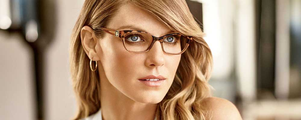 Woman wearing Anne Klein glasses