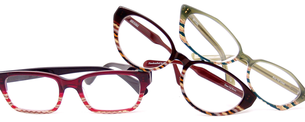 Corinne McCormack eyewear with three womens frames shown