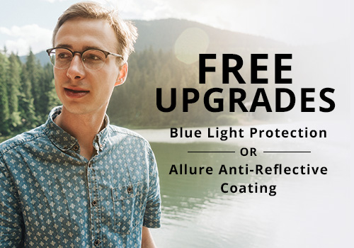 Free lens treatment upgrade for eyeglasses in Indiana